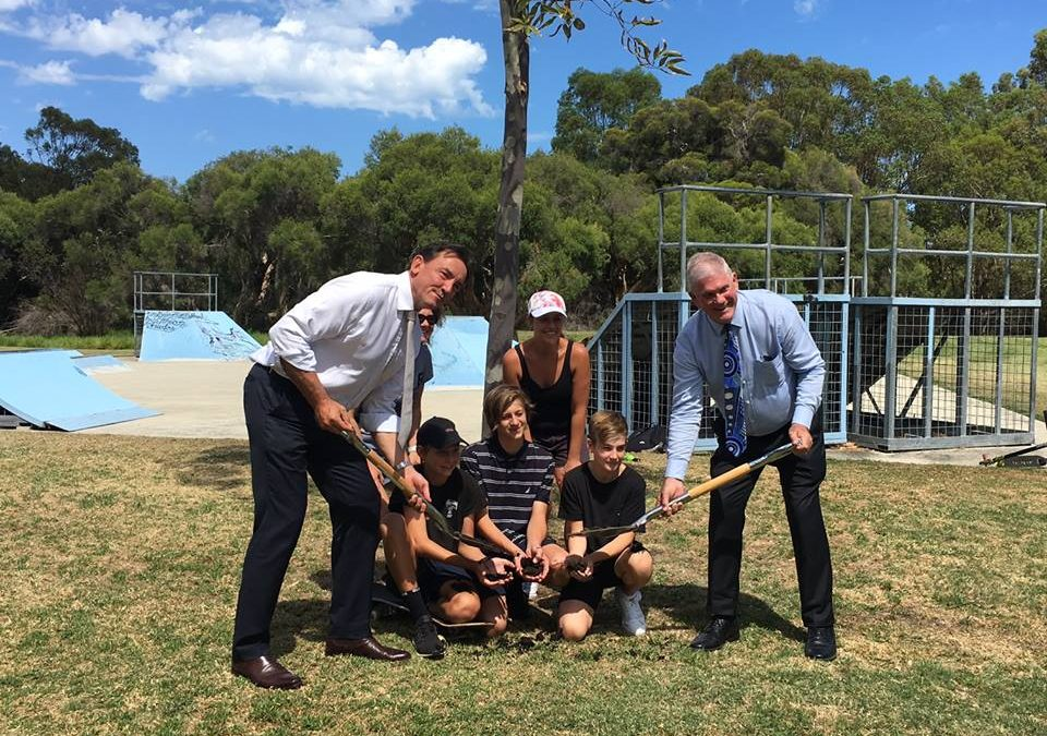 Bibra Lake Skate Park sod-turning