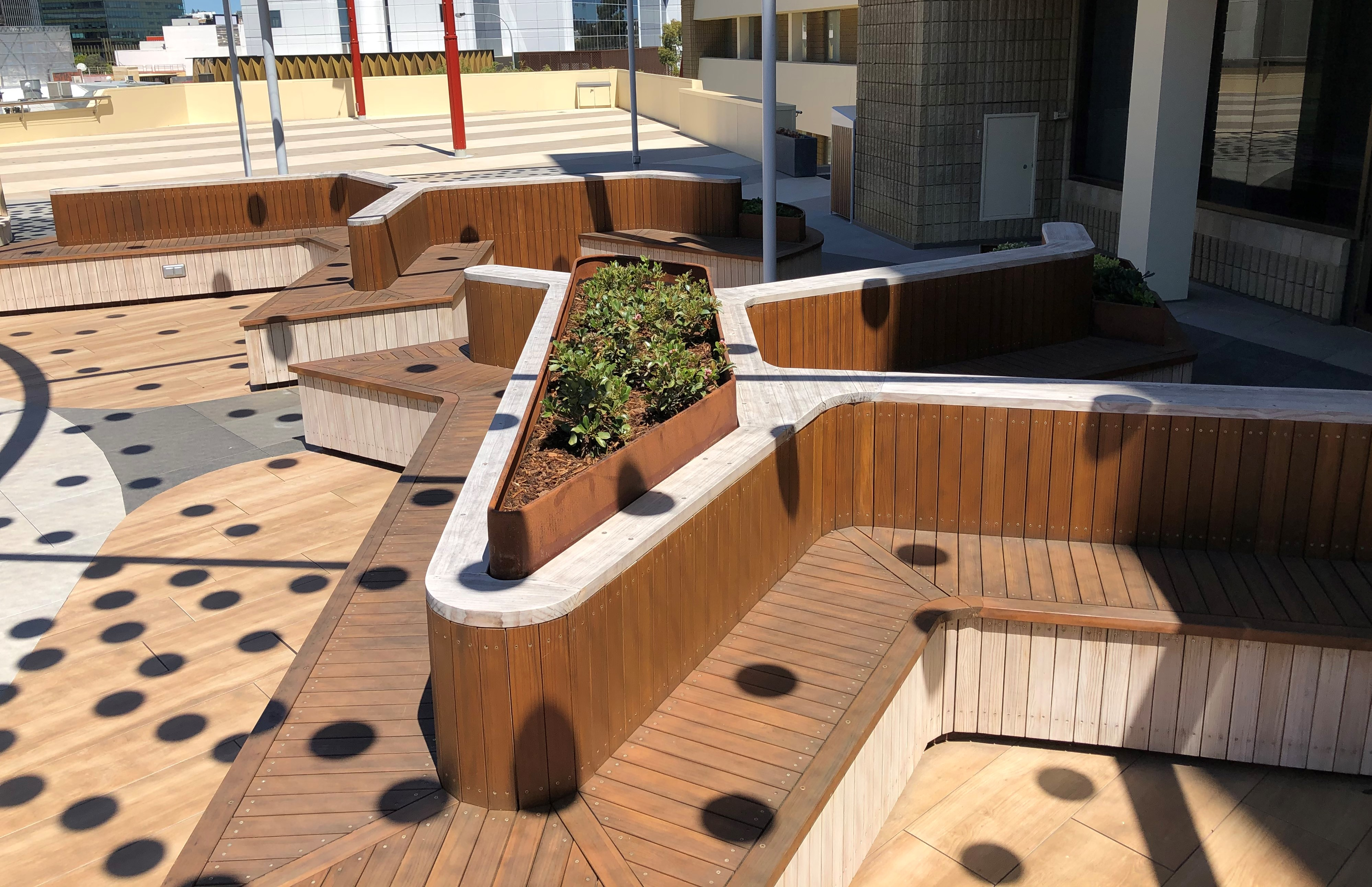 TAFE Rooftop - Timber Seating