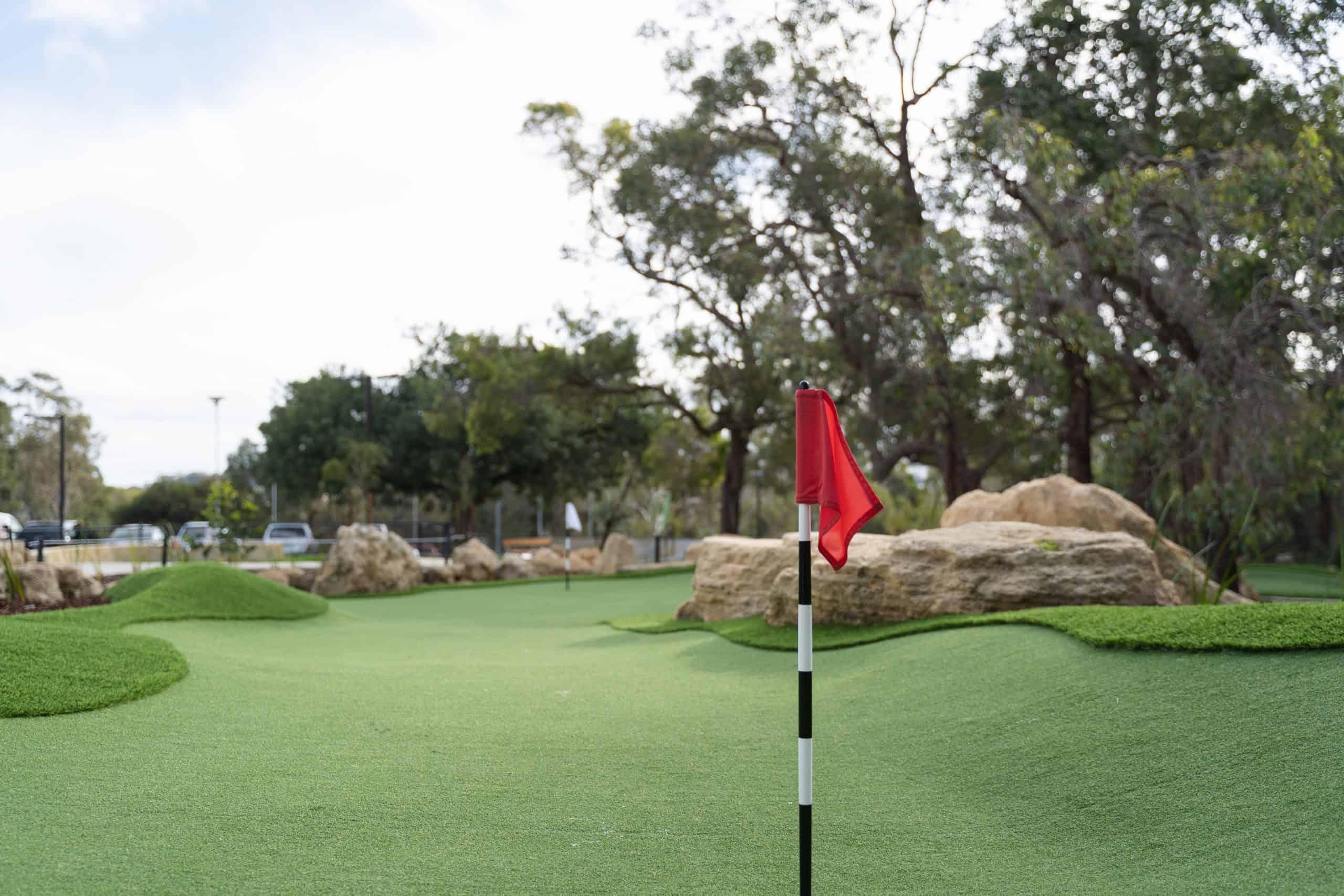 Point Walter Mini Golf Course Flag